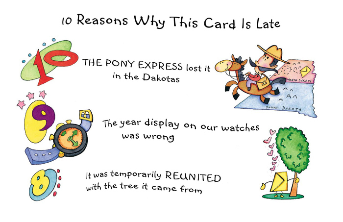 10 Reasons Why This Card Is Late