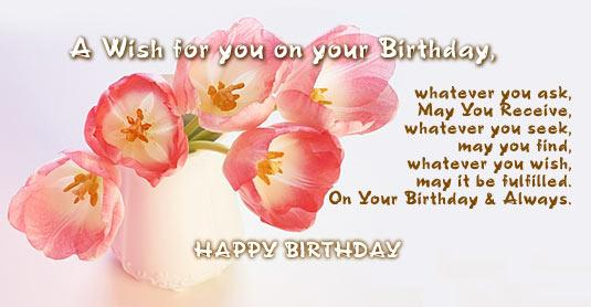 A Wish For You On Your Birthday