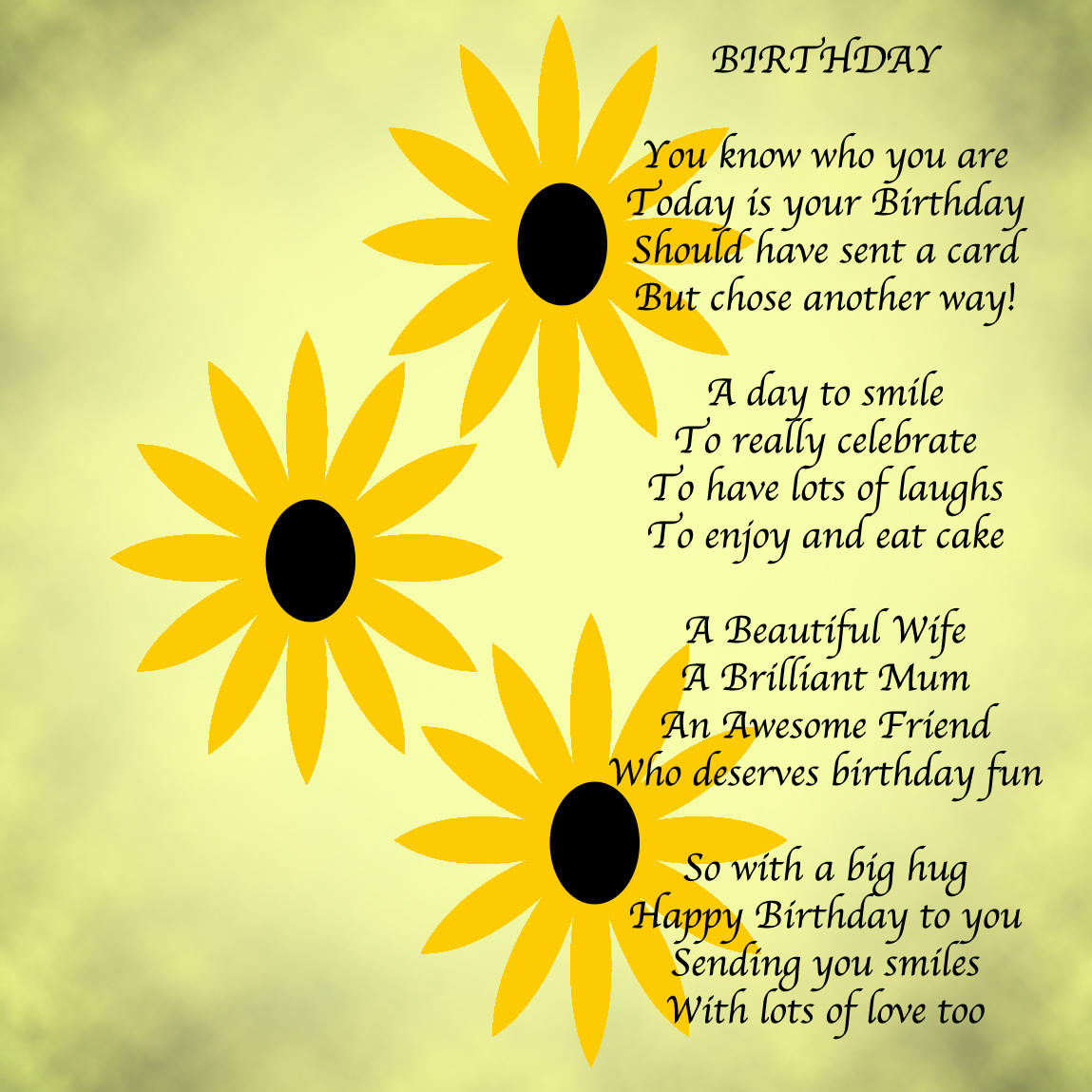 Amazing Birthday Messages: Amazing Poem Of Little Sister