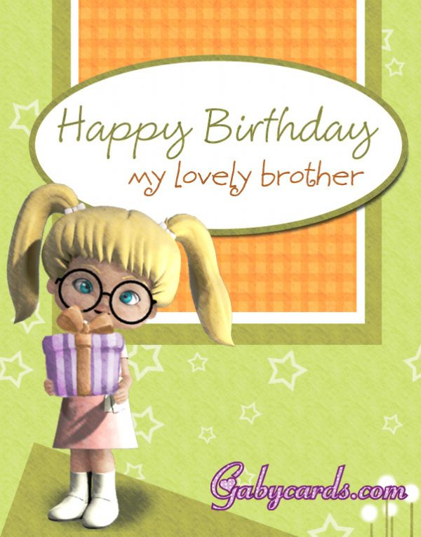 Amazing Greeting Card Birthday For Lovely Brother NiceWishes – Birthday Greeting Cards Brother