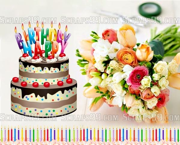 Facebook birthday wishes ecards images page 74 beautiful birthday cake image with beautiful candles bookmarktalkfo Gallery