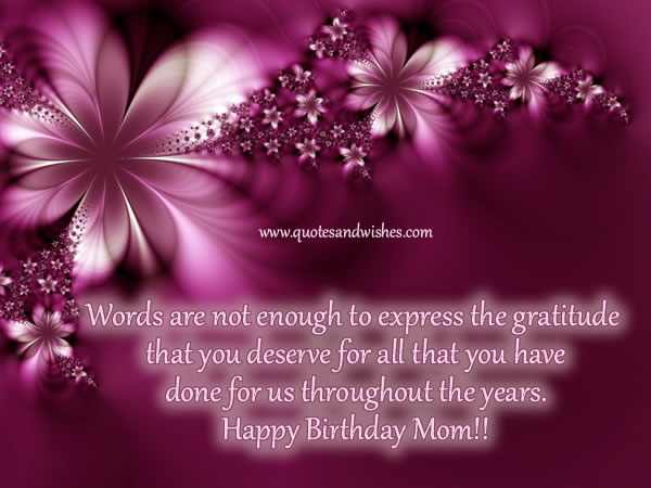 beautiful thought happy birthday mom