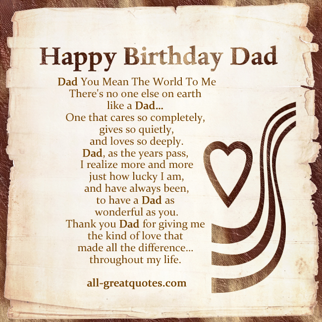 dad birthday quotes from kids - photo #13