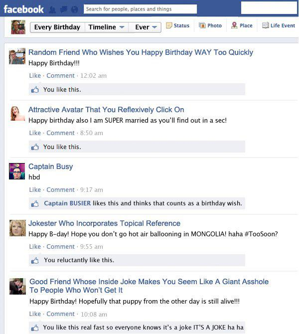 Facebook Posts Happy Birthday Wishes