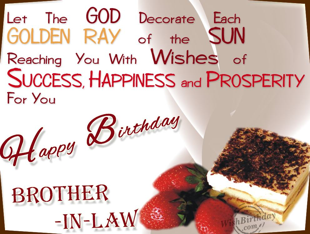 Happy Birthday Brother In Law Wishes Of Success Happiness And Prosperity