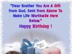 Happy birthday Brother Loving Wishes For You