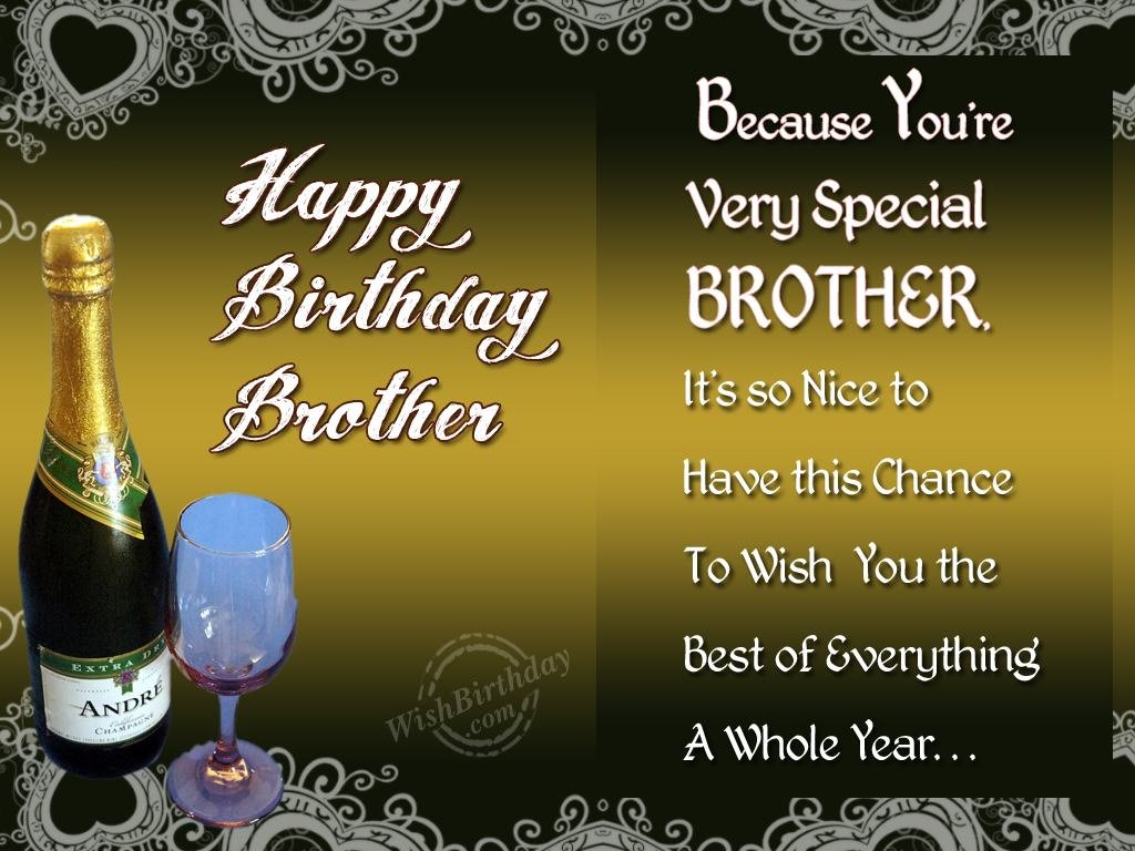 Happy Birthday Brother You Are Very Special Nice Wishes
