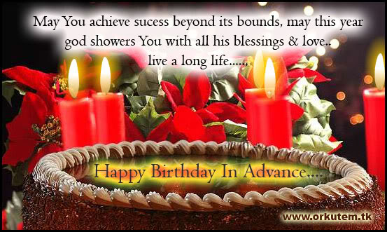 Happy Birthday In Advance With Beautiful Greeting Card Nicewishes