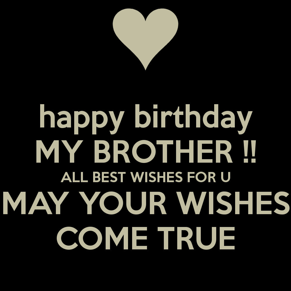 Happy Birthday My Brother All Best Wishes For You Happy Birthday My Best Wishes For You