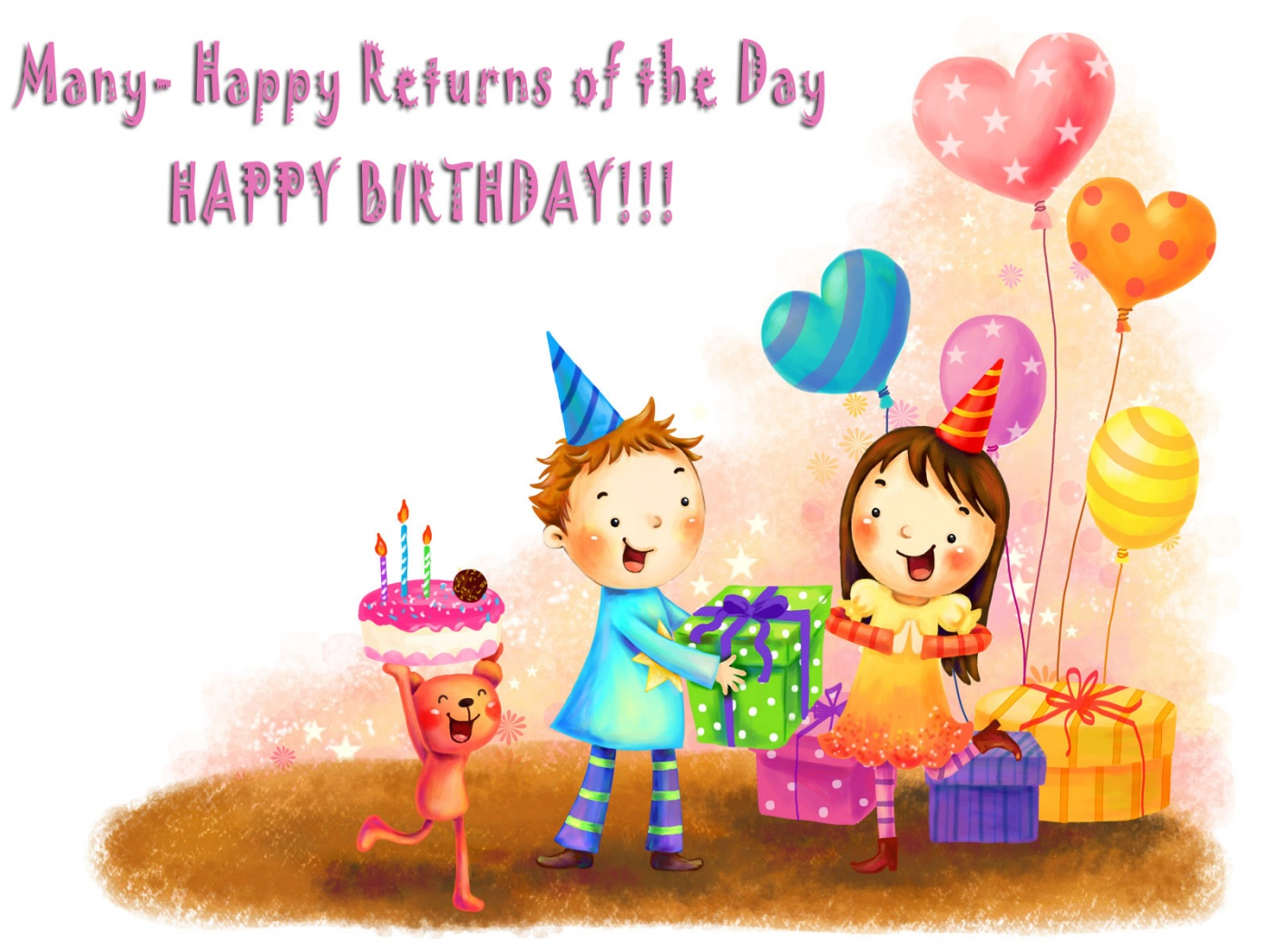 Happy Birthday With Beautiful Gifts NiceWishes – Greetings for the Birthday