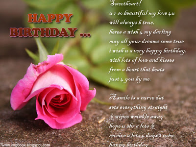 Heart Touching Poem Of Happy Birthday Nice Wishes