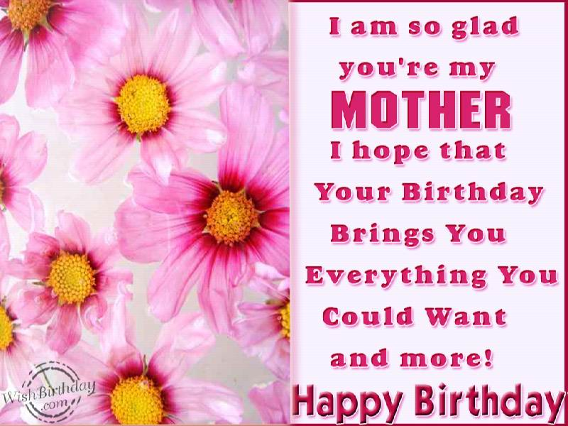 I Am So Glad You Are My Mother