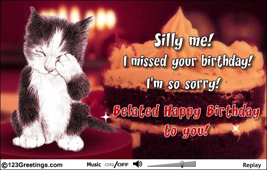 Belated Birthday Wishes For Brother In Law ~ So sad belated happy birthday to you image nicewishes