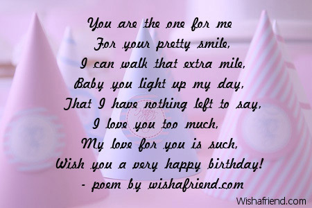 Rhyming Birthday Wishes Greetings Messages Cards Page