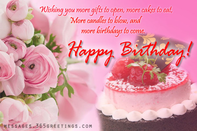 Birthday Cake Images With Message : Wish You A Happy Birthday Greeting Card Nicewishes.com