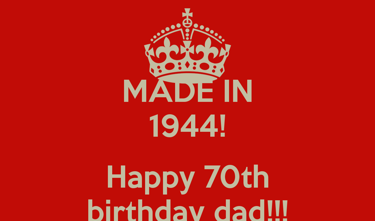 Wishing happy 70th birthday dad