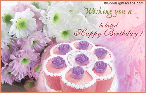 Wishing you a belated happy birthday greeting card nicewishes wishing you a belated happy birthday greeting card bookmarktalkfo Gallery
