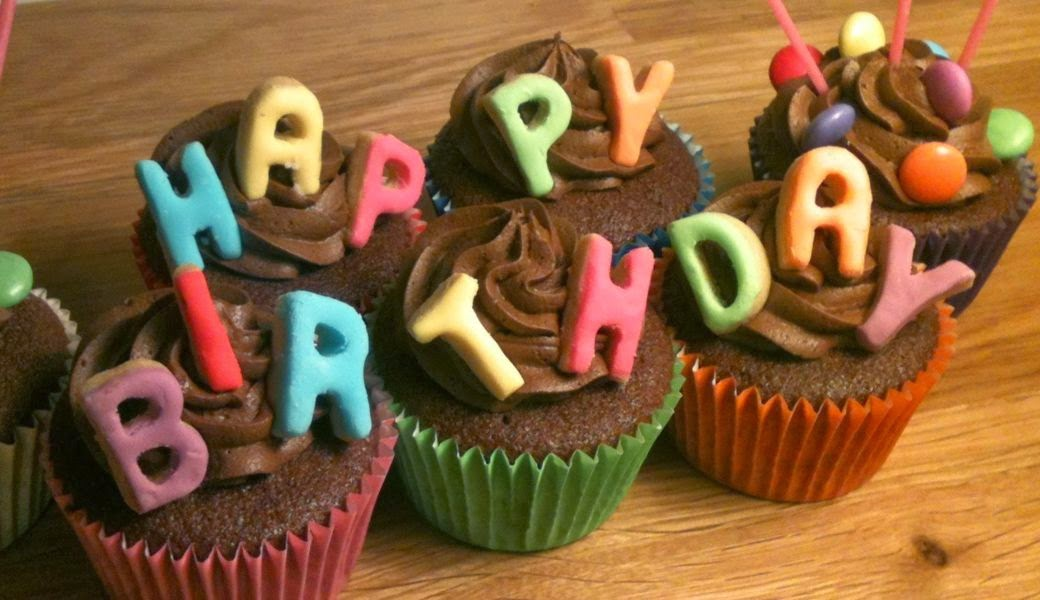 Wonderful Image Of Happy Birthday Cup Cakes