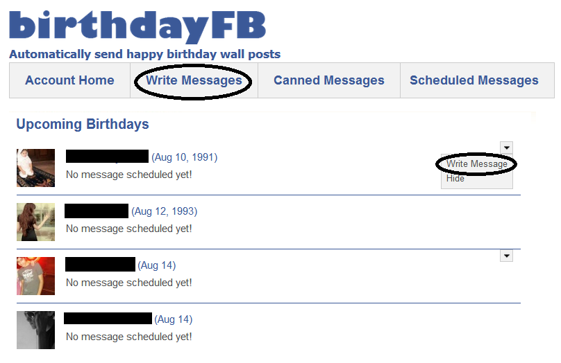 Write A Message Of Facebook Birthday Page