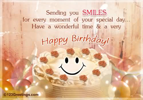 Birthday Cake Images For A Special Friend : Animation Smile Cake Birthday Wishes For Best Friend ...