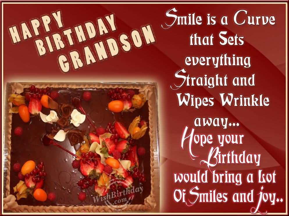 Awesome Chocolate Cake Birthday Wishes For Grandson