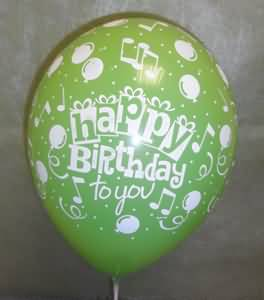 Awesome Green Balloon Birthday Wishes For Girlfriend