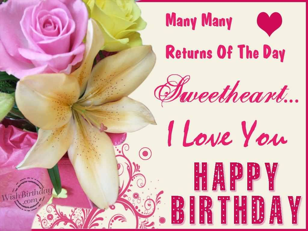 Awesome Lovely Flower Birthday Wishes For Girlfriend