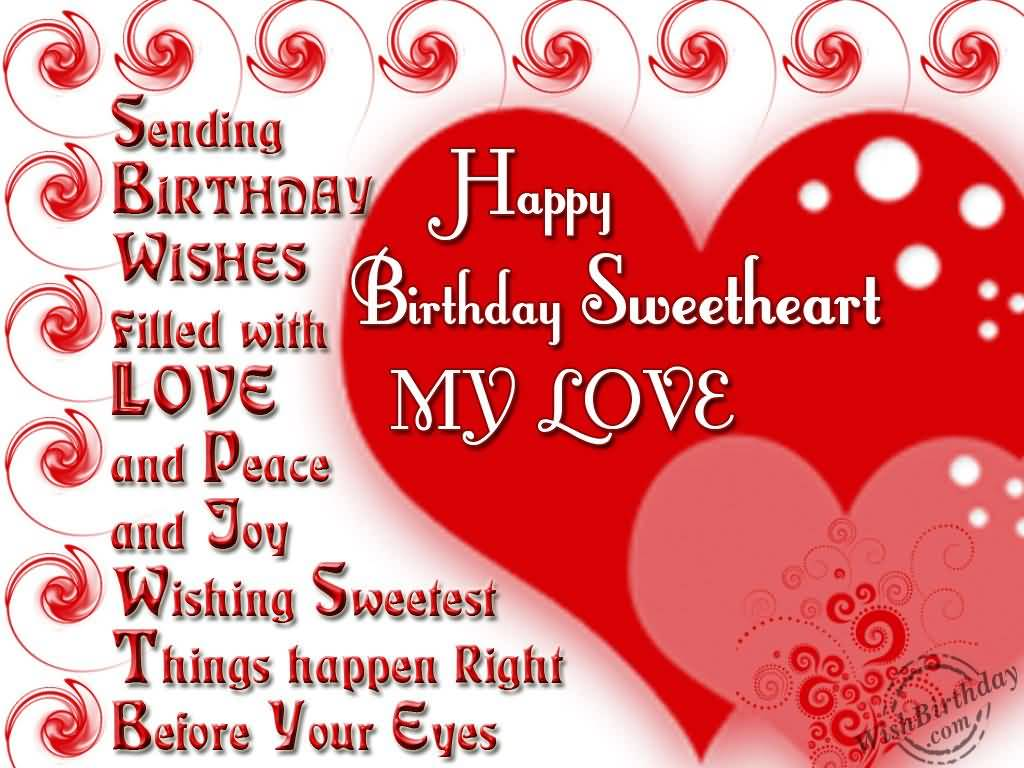 Awesome Sweet Heart Birthday Wishes For Girlfriend