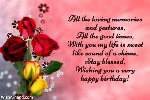 Happy Birthday Message Good Friend ~ Beautiful flower birthday messages my sweet husband nicewishes