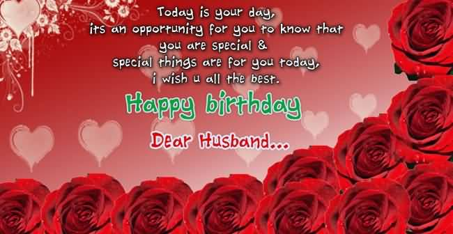 Happy Birthday Husband Quotes Wishes Images Free Download Red roses