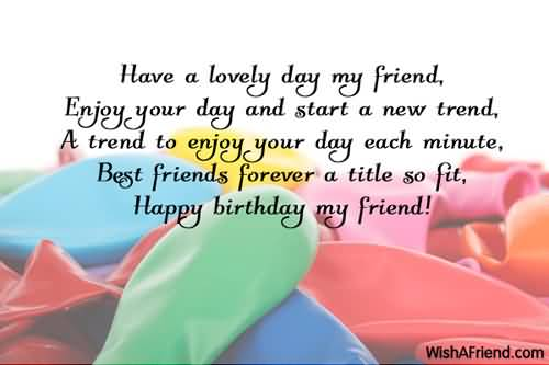 Birthday Wishes Card For My Best Friend Cute Birthday Gift – Birthday Card Message for Best Friend