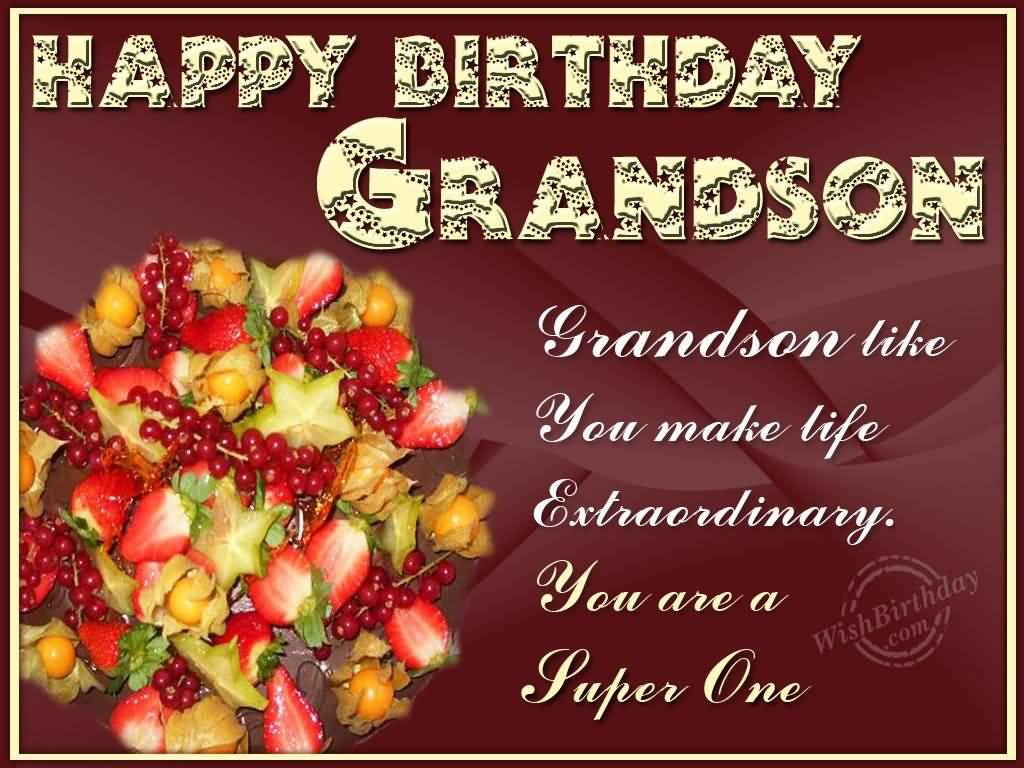 Fabulous Greetings Birthday Wishes For Grandson
