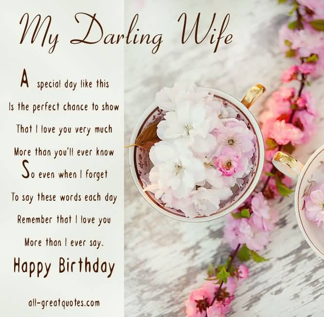 Happy Birthday My Wife Wishing You Lovely ECard NiceWishes – E Birthday Cards for Wife
