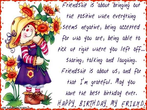 Lovely Cartoon Birthday Wishes Friend – Cartoon Birthday Greetings