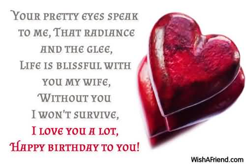 Lovely Heart Birthday Wishes For Wife Happy Birthday To Wife