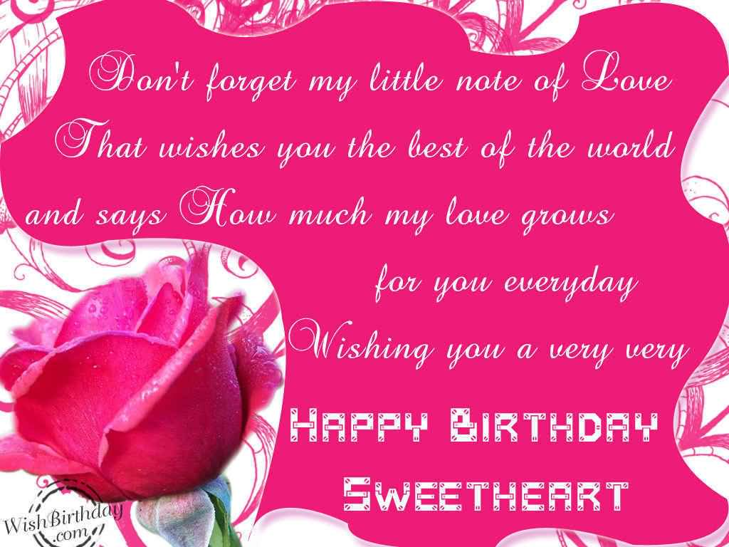 Lovely Wishing You A Very Happy Birthday Sweetheart
