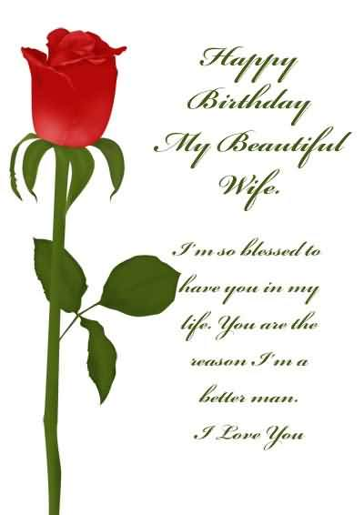 This is a graphic of Printable Birthday Cards for Wife regarding general