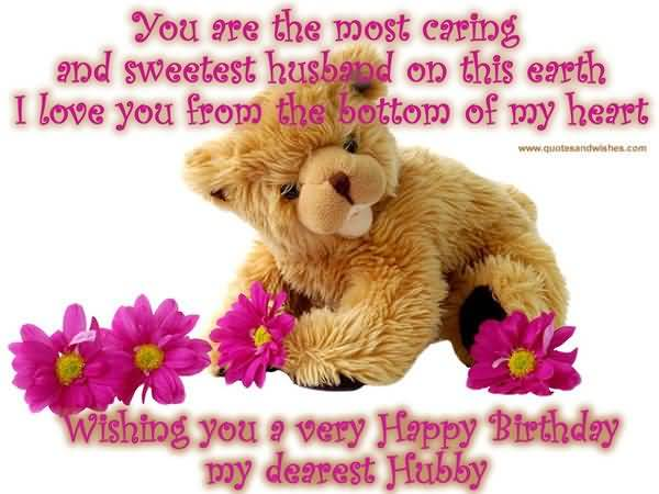 Sweet Teddy Birthday Wishes For Husband
