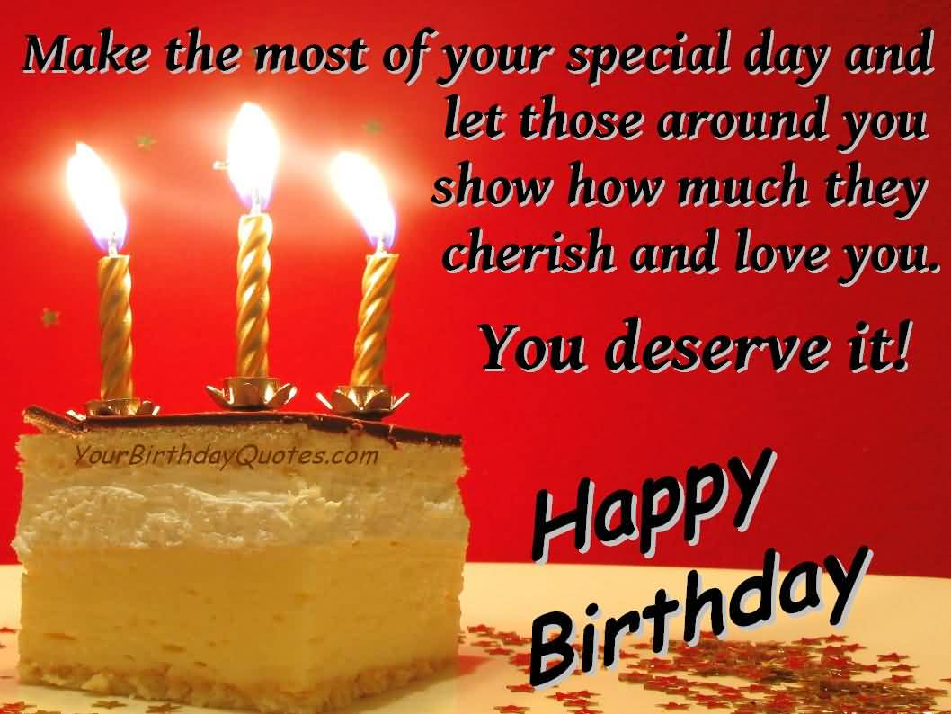 Birthday Quotes With Images Of Cake : Ultimate Cake With Single Candle Birthday Wishes For ...