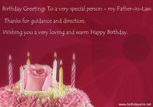 Amazing Cake Birthday Wishes For Father In Law E Card Nicewishes
