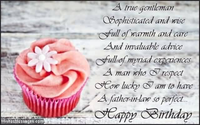 Amazing Cup Cake Birthday Wishes For Father In Law E Card Nicewishes