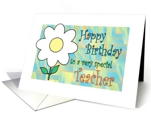 Amazing Drawing Flower Birthday Wishes For Teacher ECard NiceWishes
