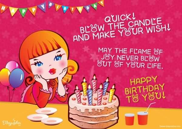 Birthday wishes for girls happy birthday quotes messages ecards amazing e card birthday wishes for cute girls m4hsunfo
