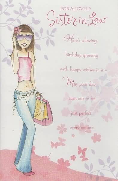 Amazing e card birthday wishes for sister in law nicewishes amazing e card birthday wishes for sister in law bookmarktalkfo Images