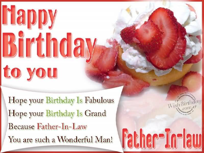 Amazing E-Card Birthday Wishes For Wonderful Father In Law
