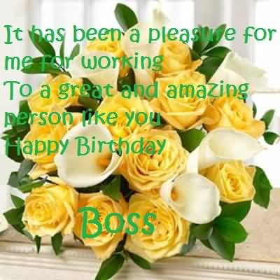 Awesome Bouquet Birthday Wishes For Boss
