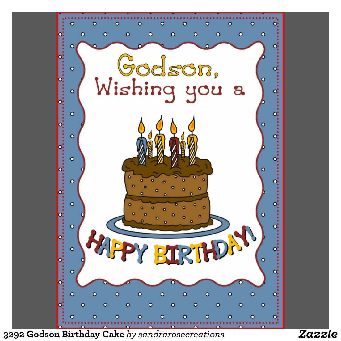 Awesome Cake Birthday Wishes For Godson E-Card