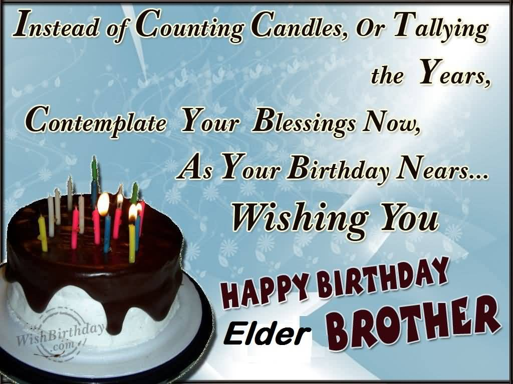 Awesome Delicious Cake Birthday Wishes For Elder Brother