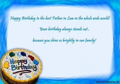 Birthday Wishes For Father In Law Happy Birthday Quotes Messages