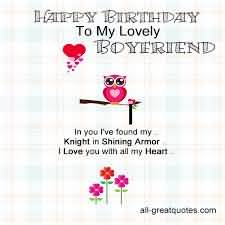 Awesome E-Card Birthday Wishes For Lovely Boyfriend